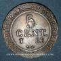 Münzen 1er empire (1804-1814). 5 centimes 1808BB. Strasbourg