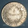 Münzen 1er empire (1804-1814). 5 francs, tête nue, an 13A