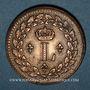 Münzen 1ère Restauration (1814-15) 1er Blocus Strasbourg 1814 1 décime 1814BB points après DECIME et 1814