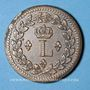 Münzen 1ère Restauration (1814-15). 1er Blocus Strasbourg 1814. Décime 1814 BB. Points après DECIME et 1814
