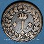 Münzen 2e blocus de Strasbourg 1815. 1 décime 1815BB points après DECIME et 1815