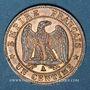 Münzen 2e empire (1852-1870). 1 centime, tête laurée, 1862A