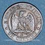 Münzen 2e empire (1852-1870). 1 centime tête laurée 1862BB. Strasbourg. Grand BB
