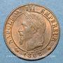 Münzen 2e empire (1852-1870). 1 centime, tête laurée, 1862BB. Strasbourg. Petit BB