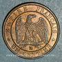 Münzen 2e empire (1852-1870). 1 centime tête laurée 1862BB. Strasbourg. Petit BB