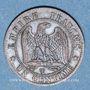 Münzen 2e empire (1852-1870). 1 centime, tête nue, 1855W. Lille. Chien