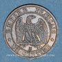 Münzen 2e empire (1852-1870). 1 centime, tête nue, 1856BB. Strasbourg
