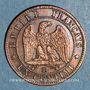 Münzen 2e empire (1852-1870). 1 centime tête nue 1856BB. Strasbourg