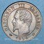 Münzen 2e empire (1852-1870). 1 centime, tête nue, 1856K. Bordeaux