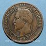 Münzen 2e empire (1852-1870). 10 centimes, tête laurée, 1863BB. Strasbourg
