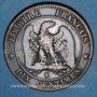 Münzen 2e empire (1852-1870). 10 centimes, tête nue, 1854K. Bordeaux