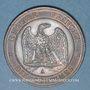Münzen 2e empire (1852-1870). 10 centimes, tête nue, 1857A