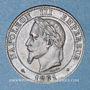 Münzen 2e empire (1852-1870). 2 centimes tête laurée 1861 BB. Strasbourg. Pointe du buste alignée sur le 1