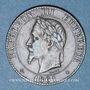 Münzen 2e empire (1852-1870). 2 centimes, tête laurée, 1861BB. Strasbourg. Pointe du buste alignée sur le 1