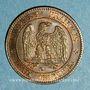 Münzen 2e empire (1852-1870). 2 centimes tête laurée 1862 K. Bordeaux