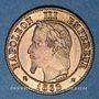 Münzen 2e empire (1852-1870). 2 centimes, tête laurée, 1862BB. Strasbourg. Petit BB