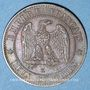 Münzen 2e empire (1852-1870). 2 centimes, tête laurée, 1862K. Bordeaux