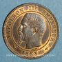 Münzen 2e empire (1852-1870). 2 centimes tête nue 1853 A
