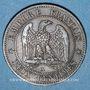Münzen 2e empire (1852-1870). 2 centimes, tête nue, 1853A