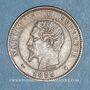 Münzen 2e empire (1852-1870). 2 centimes, tête nue, 1853K. Bordeaux
