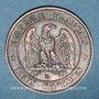 Münzen 2e empire (1852-1870). 2 centimes, tête nue, 1854BB. Strasbourg