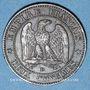Münzen 2e empire (1852-1870). 2 centimes, tête nue, 1854D. Lyon. Petit D