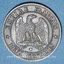 Münzen 2e empire (1852-1870). 2 centimes, tête nue, 1854W. Lille