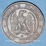 Münzen 2e empire (1852-1870). 2 centimes, tête nue, 1855BB. Strasbourg. Ancre