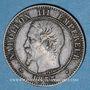 Münzen 2e empire (1852-1870). 2 centimes, tête nue, 1855BB. Strasbourg. Tête de chien