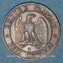 Münzen 2e empire (1852-1870). 2 centimes, tête nue, 1855MA. Marseille, ancre