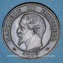 Münzen 2e empire (1852-1870). 2 centimes, tête nue, 1856BB. Strasbourg