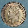 Münzen 2e empire (1852-1870). 20 centimes tête laurée grand module 1867 BB. Strasbourg