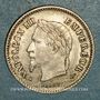 Münzen 2e empire (1852-1870). 20 centimes, tête laurée grand module 1867BB. Strasbourg