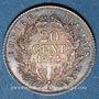 Münzen 2e empire (1852-1870). 20 centimes, tête nue, 1854A