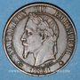 Münzen 2e empire (1852-1870). 5 centimes tête laurée 1861 A