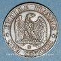Münzen 2e empire (1852-1870). 5 centimes, tête laurée, 1863BB. Strasbourg