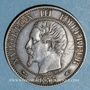 Münzen 2e empire (1852-1870). 5 centimes, tête nue, 1855A. Chien