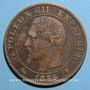 Münzen 2e empire (1852-1870). 5 centimes, tête nue, 1856BB. Strasbourg