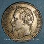 Münzen 2e empire (1852-1870). 5 francs tête laurée 1869 BB. Strasbourg