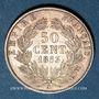 Münzen 2e empire (1852-1870). 50 centimes, tête nue, 1853A