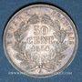Münzen 2e empire (1852-1870). 50 centimes, tête nue, 1854A