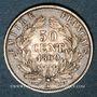 Münzen 2e empire (1852-1870). 50 centimes, tête nue, 1860A