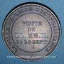 Münzen 2e empire (1852-1870). Module de 10 centimes 1853. Visite de Lille