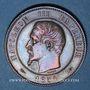 Münzen 2e empire (1852-1870). Module de 10 centimes 1854. Visite de la Monnaie de Paris