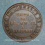 Münzen 2e empire (1852-1870). Module de 5 centimes 1853. Visite de Lille