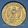 Münzen 2e empire (1852-1870). Module de 5 centimes. Laiton argenté
