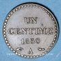 Münzen 2e république (1848-1852). 1 centime 1850A
