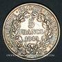Münzen 2e république (1848-1852). 5 francs Cérès 1849A. Main et chien