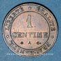 Münzen 3e république (1870-1940). 1 centime Cérès, 1875A