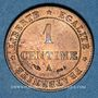 Münzen 3e république (1870-1940). 1 centime Cérès, 1884A